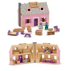 Grosses Puppenhaus zum Mitnehmen inkl. Puppen und Möbel Holz Melissa & Doug