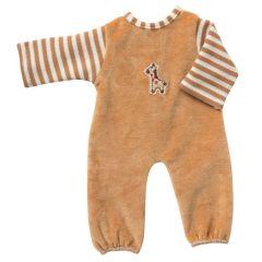 Overall Strampelanzug hellbraun beige Puppenkleidung für 24 - 26 cm Puppen Schwenk