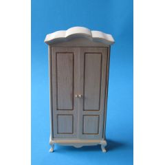 Kleiderschrank Schlafzimmer Walnuss oder Natur Puppenhausmöbel 1:12