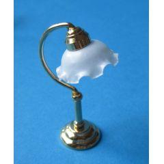 Puppenhaus Tischlampe mit weissem Schirm Puppenhaus Dekoration Miniatur 1:12