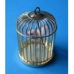 Vogelkäfig Metall mit Vogel Puppenhaus Dekoration Miniaturen 1:12