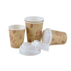 Kaffeebecher Coffee to go 100 Stück mit Drinkdeckel
