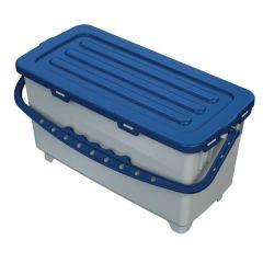 Procart Hermetic Eimer 22 Liter in blau, der Aufbewahrungseimer mit Deckel