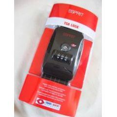 Esprit Koffergurt mit TSA-Schloss schwarz/grau