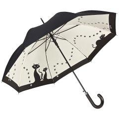Von Lilienfeld Stockschirm Regenschirm schwarze Katzen