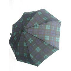 Happy Rain großer Regenschirm  karierter Automatik Regenschirm schwarz/blau/grün