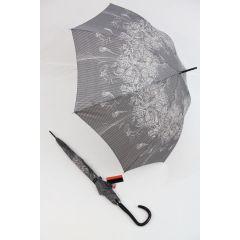 Pierre Cardin Regenschirm Stockschirm Damen taupe elegance 03