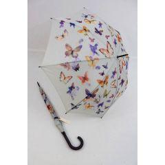 Esprit Stockschirm Regenschirm Damen Schmetterlinge Butterfly