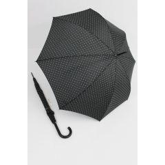 Happy Rain Regenschirm Stockschirm Dots schwarz