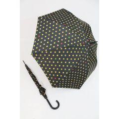 HAPPY RAIN Stockschirm Emoticons schwarzer Regenschirm für Damen und Herren