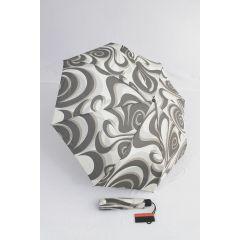 Pierre Cardin Automatik Regenschirm grau beige 01 Tourbillon