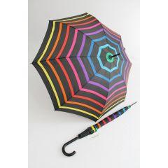 Happy Rain gestreifter bunter Stockschirm Stripe 02 Regenschirm