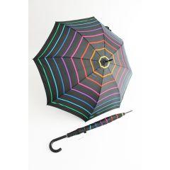 Happy Rain gestreifter bunter Stockschirm Stripe 04 Regenschirm