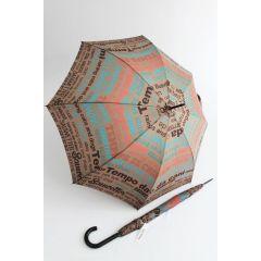Happy Rain Stockschirm Regenschirm braun Sauwetter