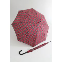 Happy Rain Stockschirm karierter Regenschirm clan rot