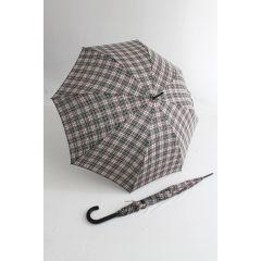 Happy Rain Stockschirm karierter Regenschirm clan schwarz weiß