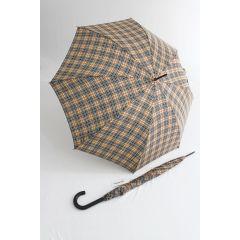 Happy Rain Stockschirm karierter Regenschirm clan hellbraun
