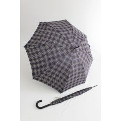 Happy Rain Stockschirm karierter Regenschirm clan blau