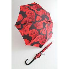 Happy Rain Stockschirm Regenschirm rote Rosen Kinematic