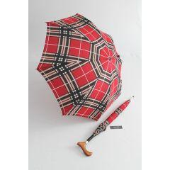 Happy Rain rot karierter Stützschirm checks red 31024 M01