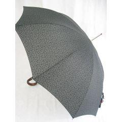Pierre Cardin Stockschirm dunkelgrau gemustert Herrenschirm Regenschirm