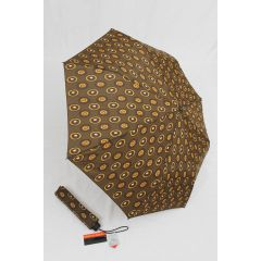 Pierre Cardin Regenschirm Taschenschirm Automatik braun