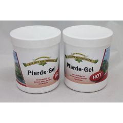 Pferde Gel Hot 2 x 500 ml für Muskeln und Gelenke Doppelpack