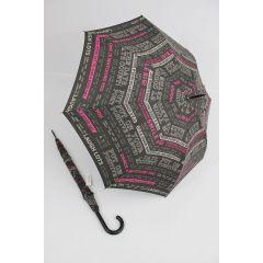 Happy Rain bunter Stockschirm Regenschirm Script schwarz