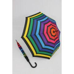 Happy Rain Stockschirm gestreifter Regenschirm Stripe 05