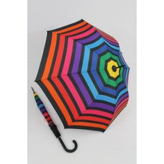 Happy Rain Stockschirm gestreifter Regenschirm Stripe 06