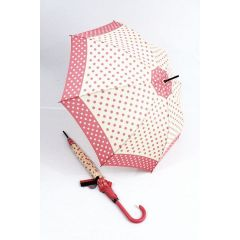 Pierre Cardin Stockschirm Pois rosa Regenschirm