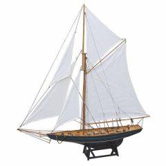**93 cm -Große, dekorative Yacht, Segelschiff, Schiffsmodell Segelyacht