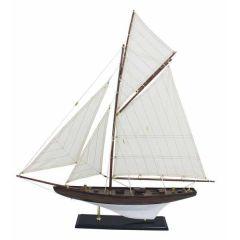 **Große, dekorative Yacht, Segelschiff, Schiffsmodell Segelyacht aus Holz