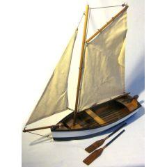 Fischerschiff- Schiffsmodell - Segler - Segelboot - Holzrumpf und Leinensegel 46 cm