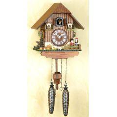 Orig.Schwarzwald-Kuckucksuhr-Schwarzwaldhaus/Pärchen -Cuckoo Clock-handmade Germany Black Forest (