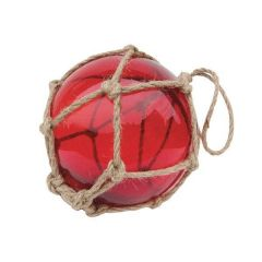 ** Fischerkugel im Netz 7,5 cm- rot
