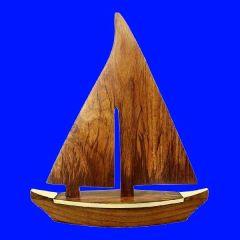 **Schiffsmodell- Segler aus Holz und Messing- 28 cm- maritime Deko