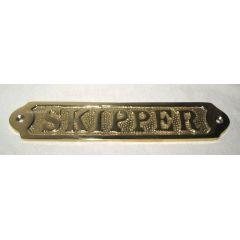 **Türschild- Messingschild- maritim- Schiff- SKIPPER- 17 cm