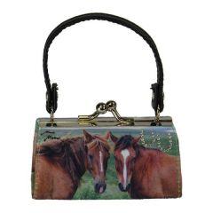 Schminktäschchen / Clipgeldbörse Minibag Pferde Furious Two