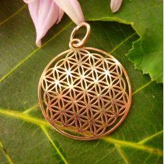 Anhänger Blume des Lebens, Silber 925 rosévergoldet