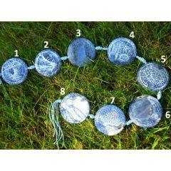 Schlangenachat blau, Anhänger Disc 40 mm