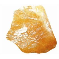 Orangencalcit Rohsteinbrocken