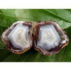 Achatdruse Condorachat, poliertes Paar