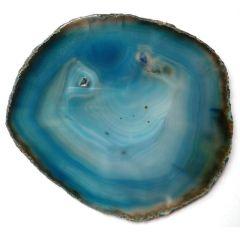 Achatscheibe 12 cm, blau (gef.)