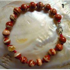 Kugelarmband Jaspis (roter Jaspis)