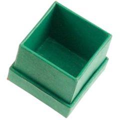 Schmuckschachtel, grün, 3,5 x 3,5 cm