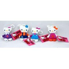 Katze - Hello Kitty mit Karabinerhaken - ca. 9 cm - Markenware