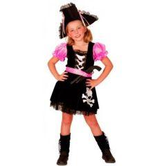 Piratin Tessa - Kinderkostüm - Seeräuberin - mit Gürtel und Hut