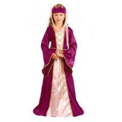 Kostüm - Kinderkostüm - Burgfräulein - Mittelalter - Prinzessin - Königin - Queen Mary - 7-9 Jahre