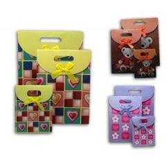 Geschenktaschen - 3 unterschiedliche Größen im Set - drei Ausführungen bestellbar